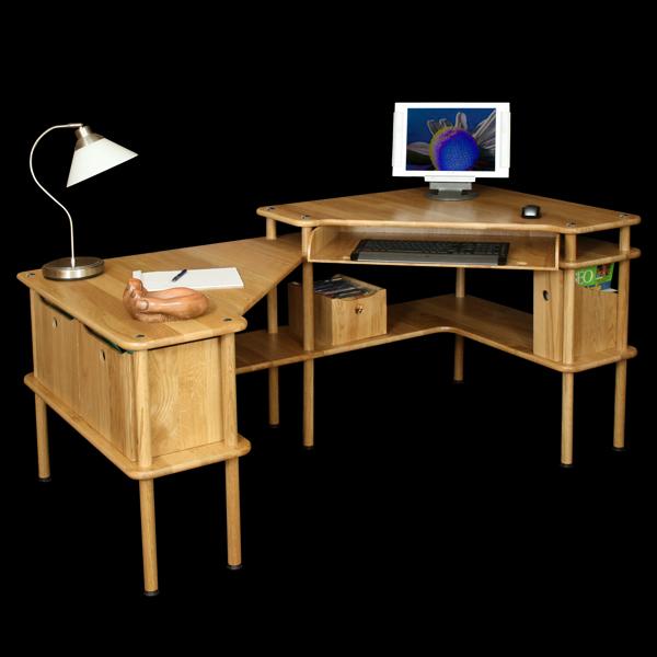 Solutions de bureaux en bois massif modulables