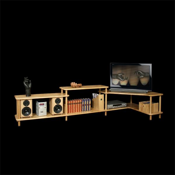Solutions de meubles TV en bois massif modulables
