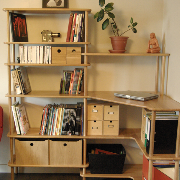 Meuble bibliotheque bureau integre maison design for Meuble bureau bibliotheque
