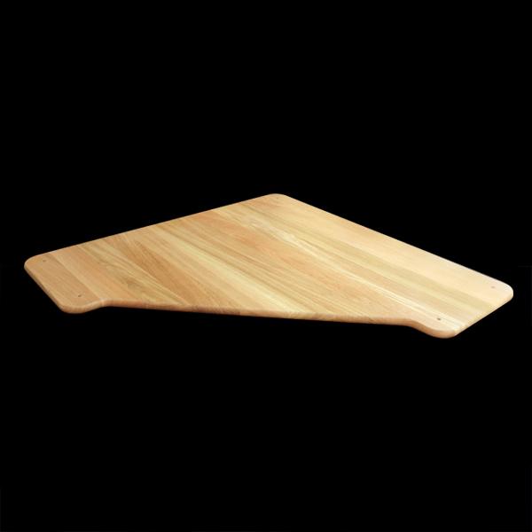 Tablette d'angle coupé en bois massif pour meubles modulables