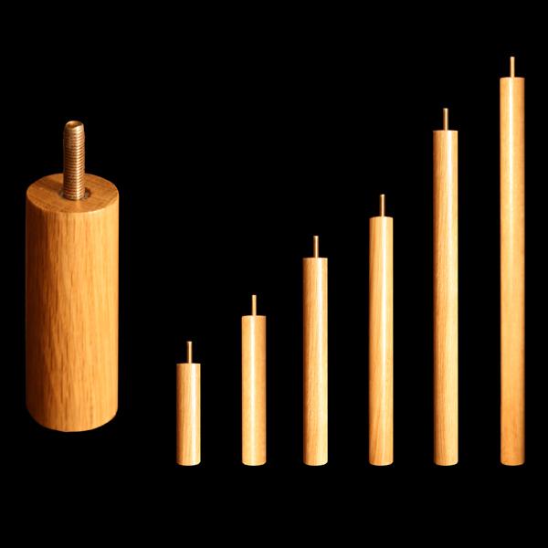 poteaux en bois massif pour meubles modulables