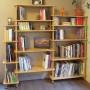 SOPHIA 178cm-Bibliothèque en bois massif modulable vue en situation