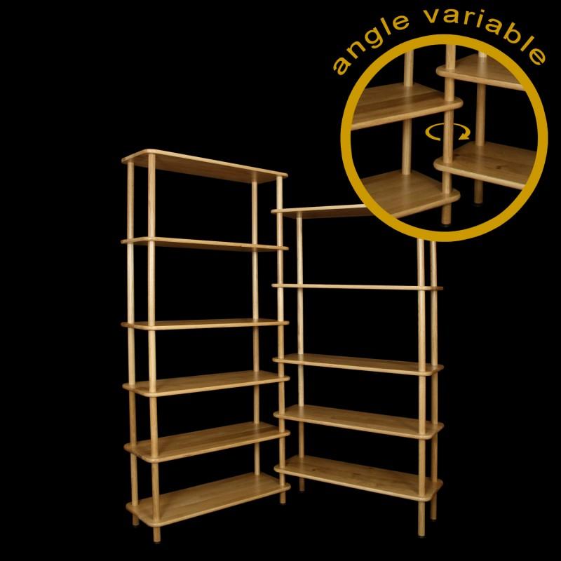 biblioth que d 39 angle flexi. Black Bedroom Furniture Sets. Home Design Ideas