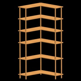 etagere angle bois massif. Black Bedroom Furniture Sets. Home Design Ideas