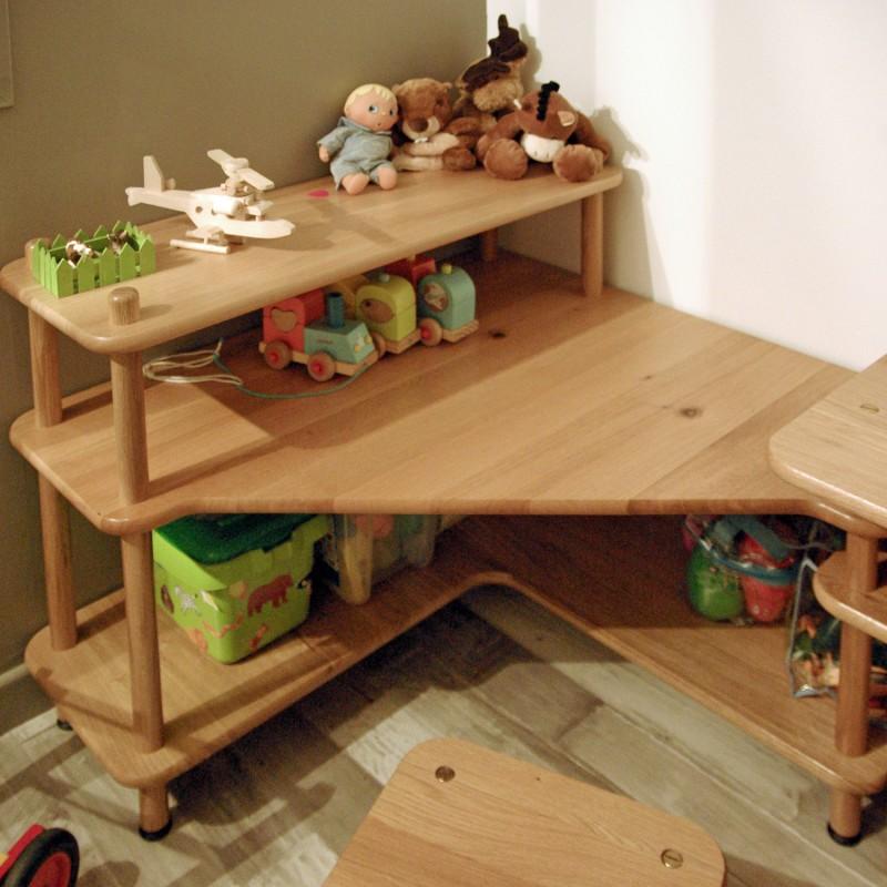 Meuble d 39 angle enfant baby for Meuble bureau d angle