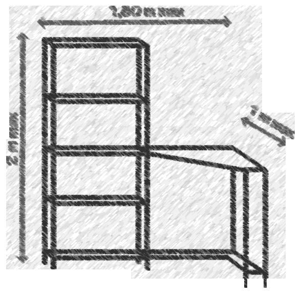 Croquis d'un projet de meuble sur mesure