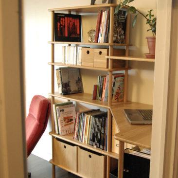Solutions de meubles d'angle en bois massif modulables