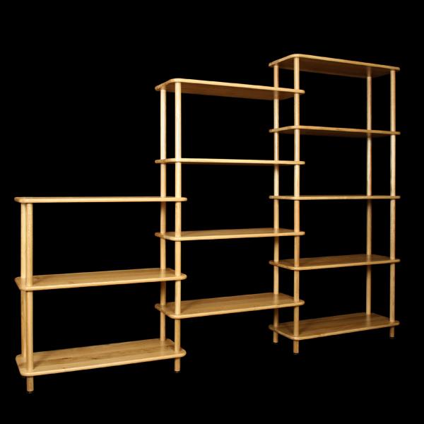 etag re biblioth que en bois massif. Black Bedroom Furniture Sets. Home Design Ideas
