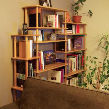 Solutions d'étagères et bibliothèques en bois massif modulables