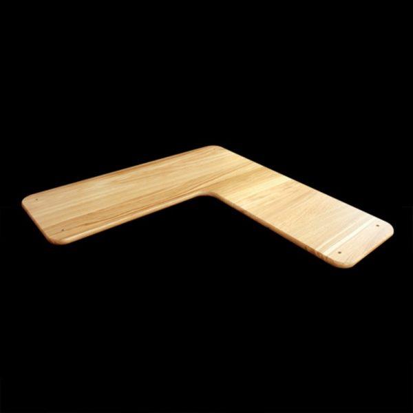 Tablette d'angle en chêne massif