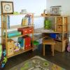 Vue en situation du bureau d'angle enfant SATURNE