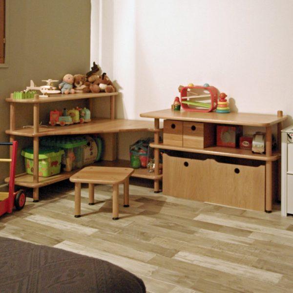 Vue en situation du meuble d'angle enfant BABY