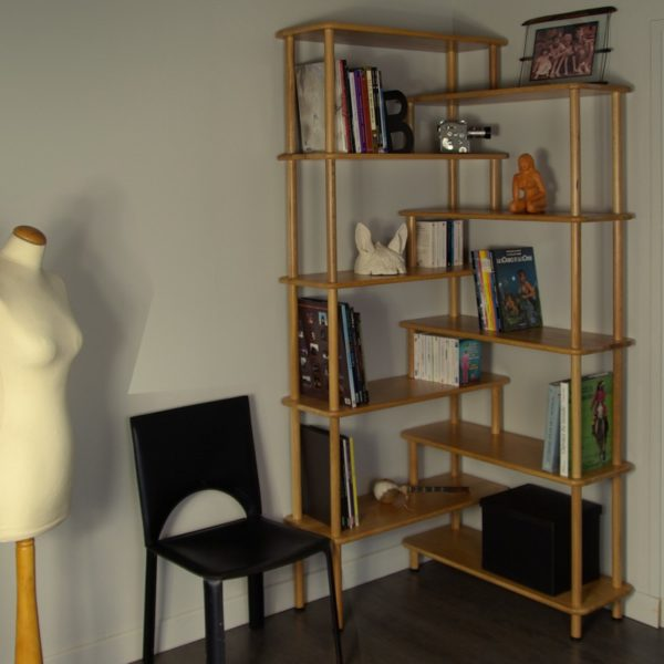 EA07 - Bibliotheque 2en1 STYLE - version angle en situation