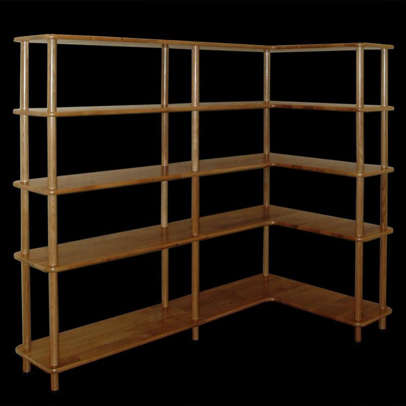 biblioth que d 39 angle trio. Black Bedroom Furniture Sets. Home Design Ideas